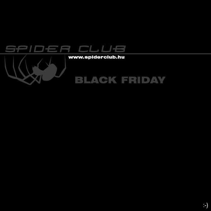 Black Friday a Spider Webshopban!