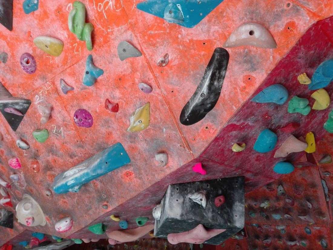 Új falrész a hátsó és a boulder teremben