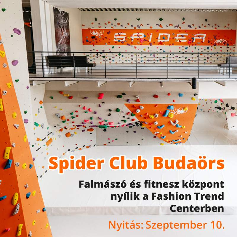 Spider Club: falmászó és fitness központ nyílik Budaörsön a Fashion Trend Centerben